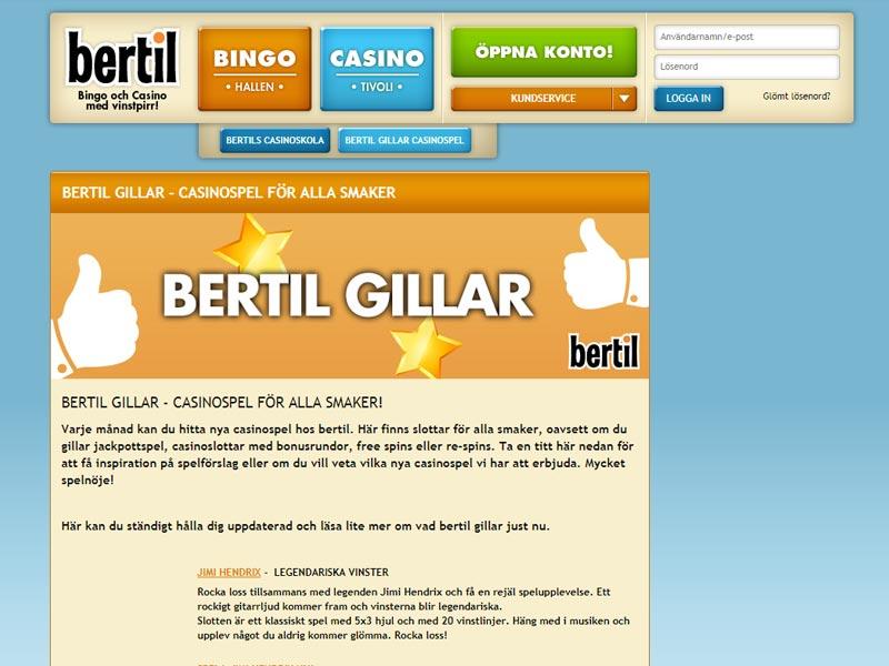 Bertil - FГҐ 233 % bonus upp till 1000 kr