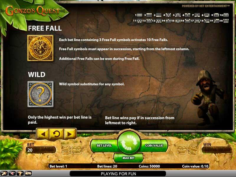 Spela Gonzo's Quest spelautomat på nätet på Casino.com Sverige
