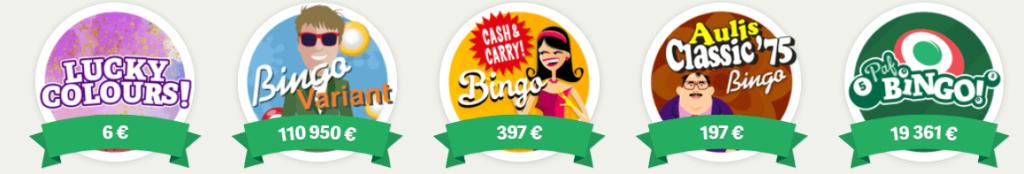 Paf spelutbud bingo