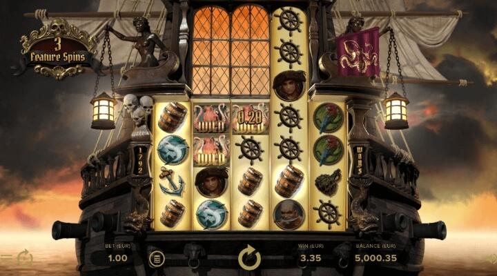 Rage of the Seas spelautomat spelplan