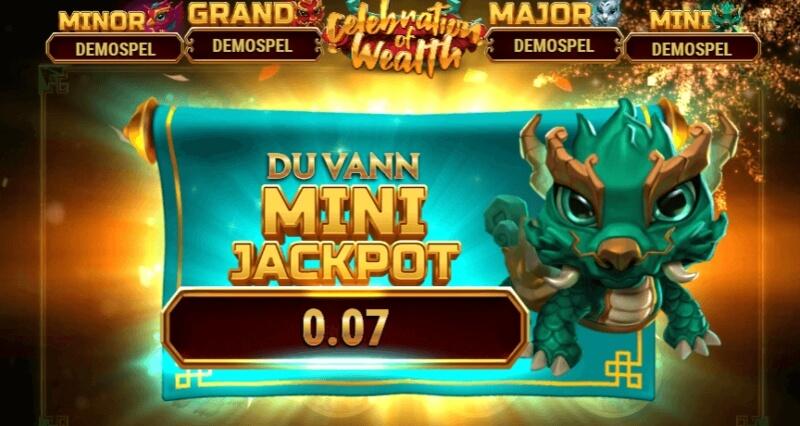 Celebrations of wealth mini jackpot