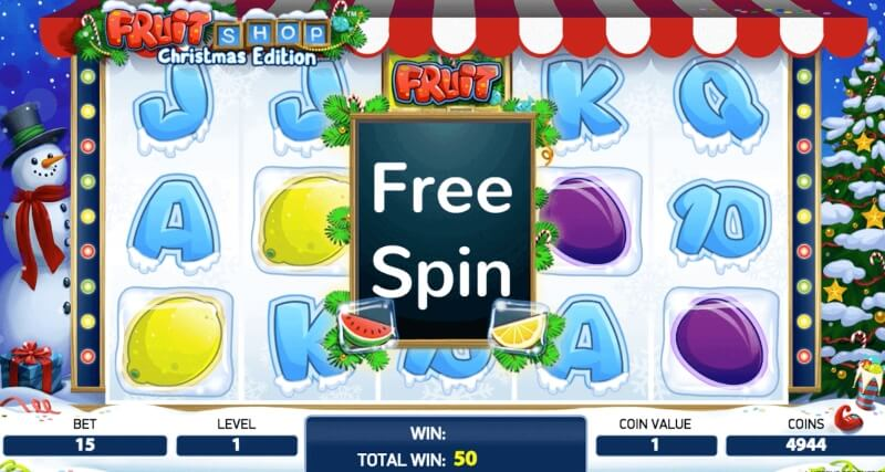 fruit shop Christmas - free spins